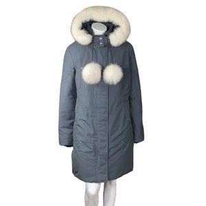 Moose Knuckles Stirling Parka Granite Natural Fox Fur Lined Hood Down Plus Size